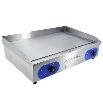 3000w Electric Griddle Commercial Hotplate Flat Grill 73cm Large Countertop Us