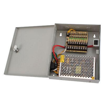 9 CH Port Power Supply Distribution Box DC 12V 5A for Security CCTV Camera
