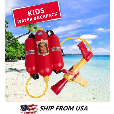 Backpack Water Gun (Water Gun Kids Super Soaker Blaster Fire Backpack Pressure Pool Toy Beach)