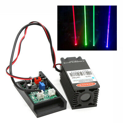 Used 450nm 2000mw Focusable 2w Blue Laser Module Ttl Outer Driver Engrave Cut