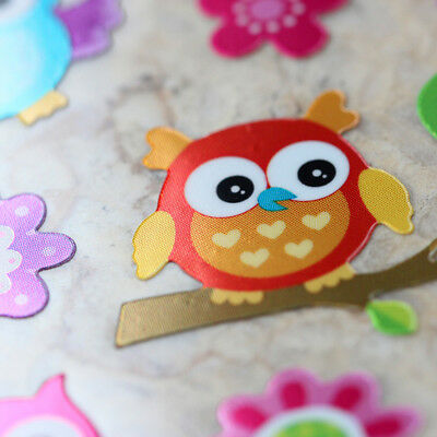 Kawaii Emoji Animals Cute Colorful Owl Birds Shiny Foil Scrapbooking Stickers