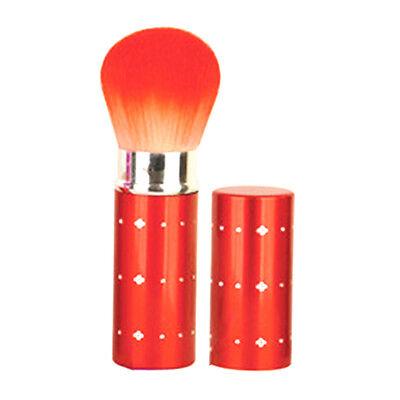 Profi Make Up Brush Puderpinsel Powder Brush Kosmetik ausziehbar Rot Strass