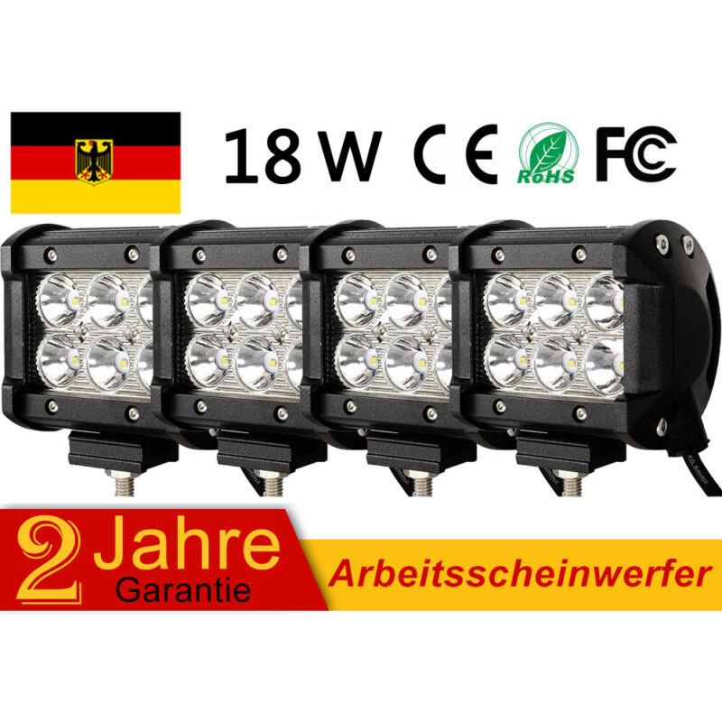 4X 18W LED Arbeitsscheinwerfer 12V 24V Weiß Offroad Scheinwerfer für Jeep SUV