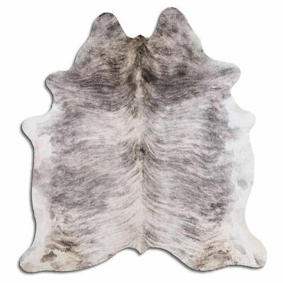 Alfombra de piel de vaca real Gris claro Brindle Tamaño 6 por...