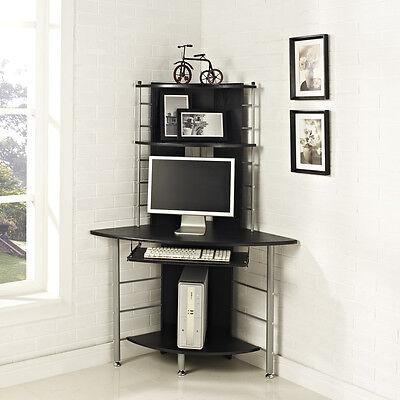 Genial Tall Black Corner Computer Desk U2014 All Furniture : Black .