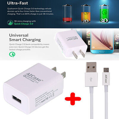 Qualcomm Certificated Quick Charge 3 0 Usb Wall Fast Charger Adapter Fr Android