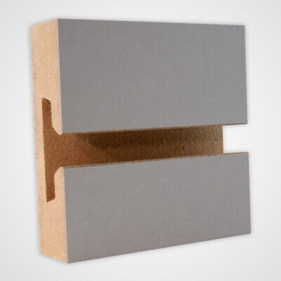 Horizontal Slatwall Panels With Gray Finish In 4 Feet H X 8 Feet W - Count Of 2
