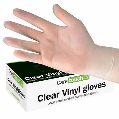 100 New Disposable Vinyl Clear Gloves Med/Large/X Large Power Free/Latex Free..
