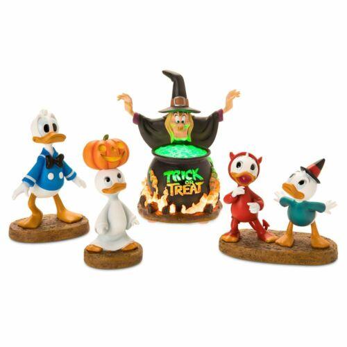 Disney Donald Duck 85th Figurine Set Trick or Treat Huey Dewey Louie Witch Hazel