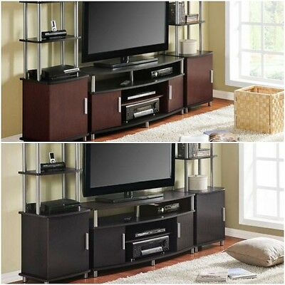 Entertainment Center Tv Stand 2 Side Towers 50 70 Media Console Cabinet No Tax