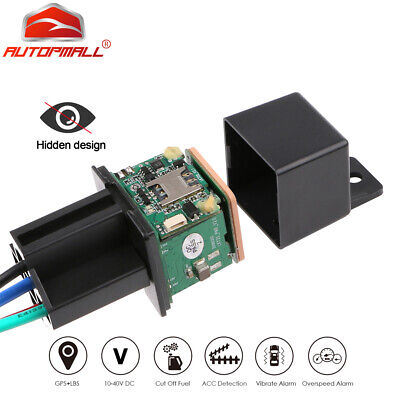 Car GPS Tracker Tracking Security Device Relay-Shape Spy Cut Oil Remotrly 10-40V