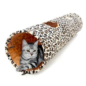 Cat Tunnel Pet Tube Kitten Toys Rabbit Fun Toy Leopard Foldable Fat Cat New Way