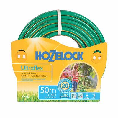 Hozelock 50m Ultraflex Hose 12.5mm Flexible Anti-Kink No-Twist Garden Hose Pipe