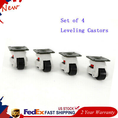 Gd-80f Set Of 4 Leveling Casters High Wearability Low Noise 22011002200lbs