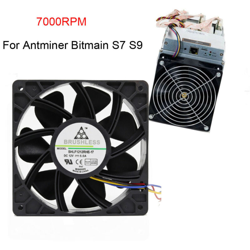 7500RPM Cooling Fan Replacement 4-pin Connector For Antminer Bitmain S7 S9 USA