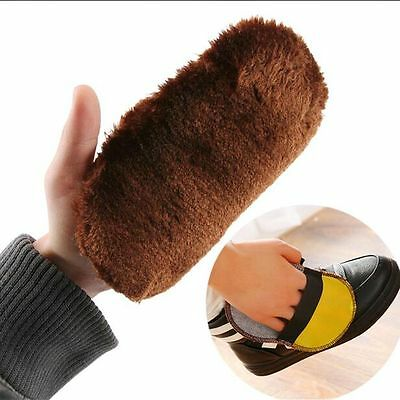 Imitation Wool Shoe Care Brush For Leather Shoes Bags Sofa Cleaning Polishing