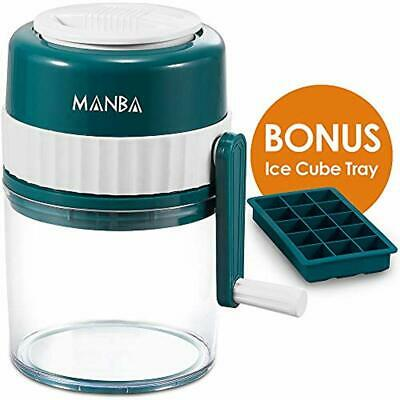 Manual Ice Shaver And Snow Cone Machine - Premium Crusher Shaved With Free Cube