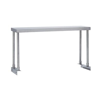 Commercial Kitchen Stainless Steel Single Overshelf For Work Tables 12x60