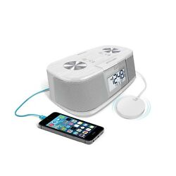 iLuv TimeShaker Micro Vibrating Alarm Clock - White -Hard of Hearing- Low Vision