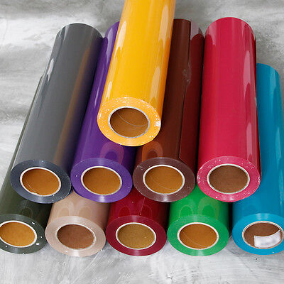 Pvc Premium Tshirt Garment Vinyl Flex Heat Press Transfer Textile Film 22 Colors
