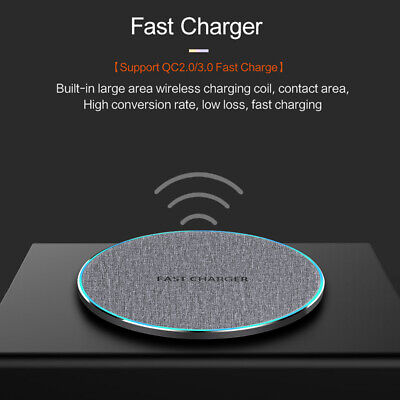 15W Qi Wireless Charger Charging Pad Mat For iPhone 11 11Pro Max 8 X 8Plus XS XR
