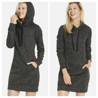 FABLETICS XS Yukon Dress NWT Hooded Knit Fleece Charcoal Gray Short Long Sleeve