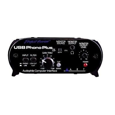 Pro Series Plus Usb (ART Pro Audio USB Phono Plus Project Series Compact Stackable Phono Line Preamp)