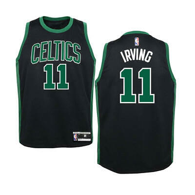 KIDS Size 4 KYRIE IRVING Boston Celtics Black Basketball Jersey Childs Basketball Jersey