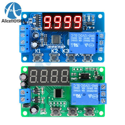 Digital 12v Led Display Timer 34button Delay Relay Programmable Module Switch