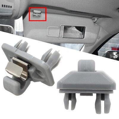 2 x Grey Inner Sun Visor Clip 8U0857562A for Audi A3 A4 A5 Q5 A7 B6 B7 B8 S4 S5