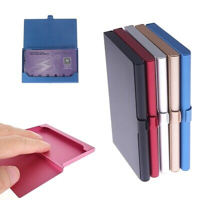 Business Card Case Stainless Steel Aluminum Box Credit Id Wallet Card Holder