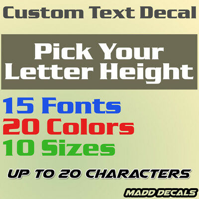 Custom Your Text Decal Name Vinyl Sticker Personalized City Username Lettering