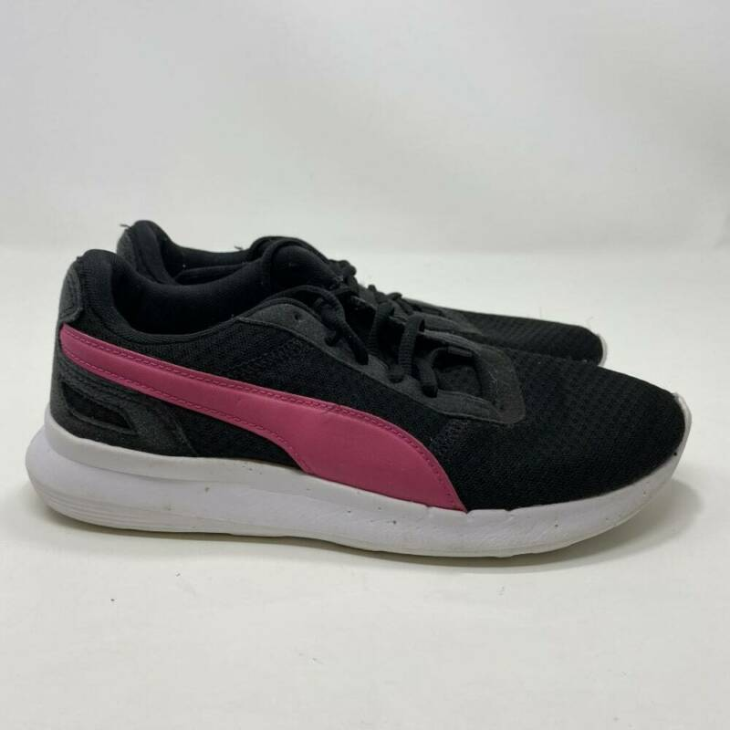 Puma Women's Black & Pink Shoes Size 8 (A128)