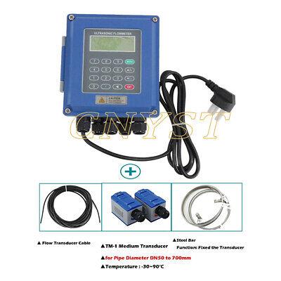 Digital Ultrasonic Flow Meter Liquid Flowmeter Dn50 To 700mm Tuf-2000btm-1
