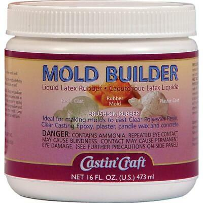 MOLD BUILDER Castin Craft Liquid Latex Rubber Make Molds Brush On 16 oz Jar Liquid Mold Rubber