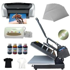 Flat sublimation Heat press &printer T-shirt Transfer Kit#110299
