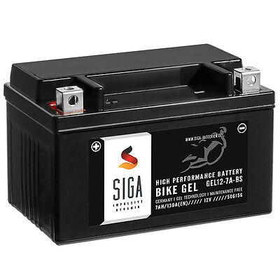 SIGA BIKE GEL Roller Batterie 7Ah 12V 130A/EN Motorradbatterie YTX7A-BS
