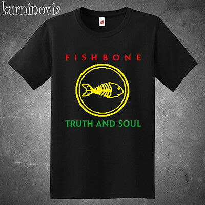 New Fishbone Truth and Soul Logo Rock Band Men's Black T-Shirt Size S to 3XL
