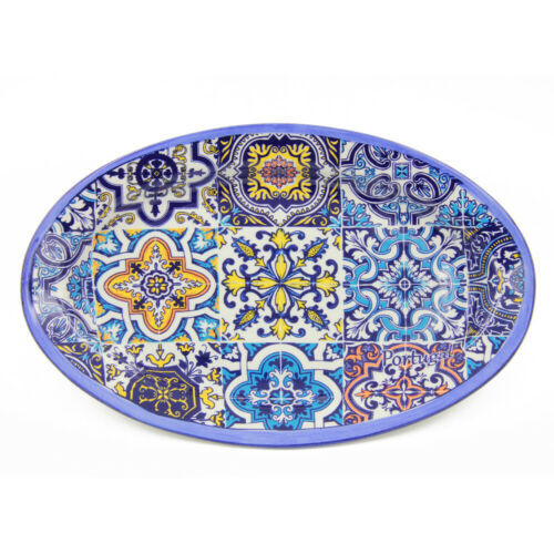 Hand-painted Traditional Portuguese Ceramic Oval Platter
