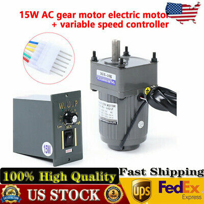 Geared Motor Speed Controller Gear Motor Electric Variable Speed Smooth 15w 10k
