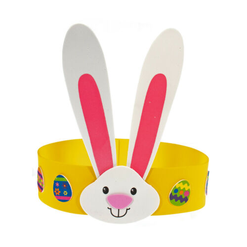 Craft County Easter Bunny Foam Headband Craft Kit - for Kids Makes 12