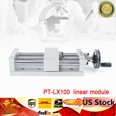 130mm Stroke Sliding Table Ball Screw Linear Stage Cnc Slide Pt-lx100 Usa