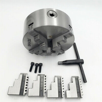 4jaw K12 Lathe Chuck 160mm Mini Metal Chuck Self-centering Hardened Steel Cnc
