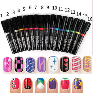 16-Color-Women-Delicate-Beauty-Nail-Art-Pens-Polish-DIY-Design-Manicure-Tools