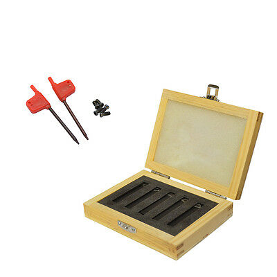 5 Pc 516 Lathe Indexable Carbide Insert And Turning Tooling Bit Holder Set
