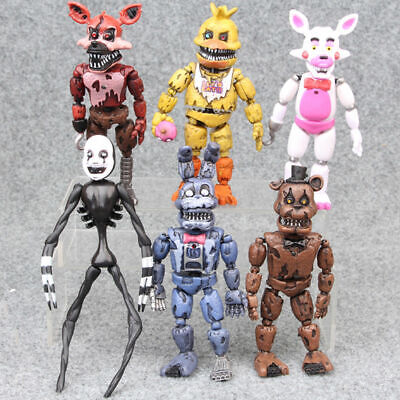 """Five Nights At Freddy's FNAF Bunnie Game 5"""" LED Light Figures 6 Pcs Toys Gift"""