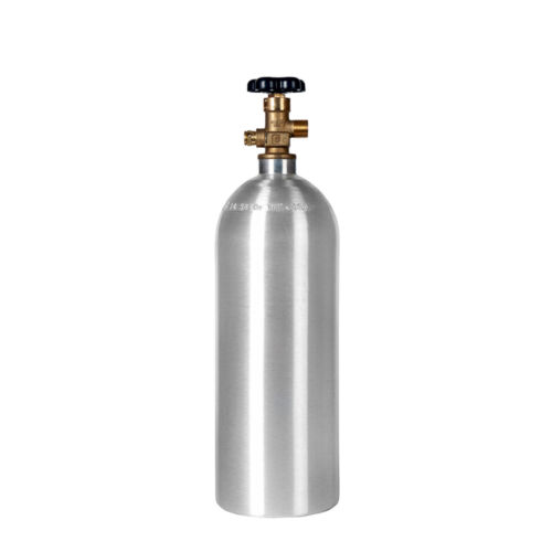 New 5 lb. Aluminum CO2 Cylinder - CGA320 Valve - DOT Approved - Fresh Hydro Test