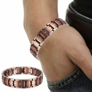 Double Strength Mens Pure Copper Magnetic Therapy Bracelet
