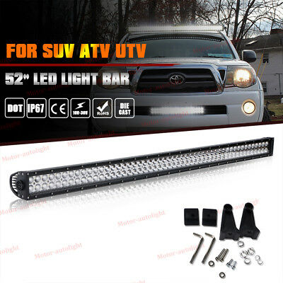 CREE 50inch LED Work Light Bar Combo Truck Offroad SUV Boat Driving Jeep 52