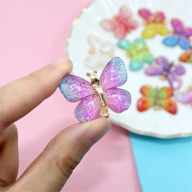 10 pcs Flatback Beautiful Butterflies Resin Embellishments Craft Decors 25x33mm